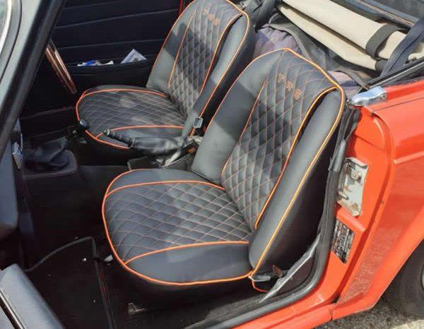 Vintage TR6 Red Car Retrim - M Trim