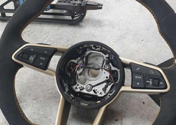 Audi A3 RS Steering Wheel Retrim with Alcantra - M Trim
